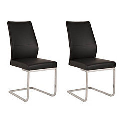 Caterina Black Dining Chairs, Set of 2