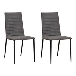 Milo Gray Dining Chairs, Set of 2