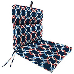 Cape Cod Sailor Chaise Outdoor Lounge Cushion
