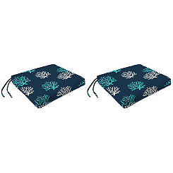 Isadella Oxford Outdoor Seat Cushions, Set of 2