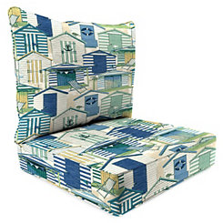 Pool Beach Huts 2-pc. Outdoor Chair Cushion Set
