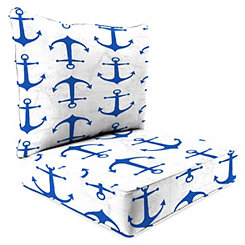 Cobalt Anchors 2-pc. Outdoor Chair Cushion Set