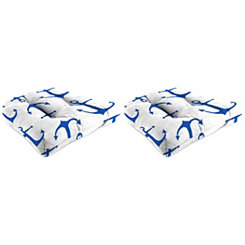 Anchors Outdoor 18 in. Seat Cushions, Set of 2