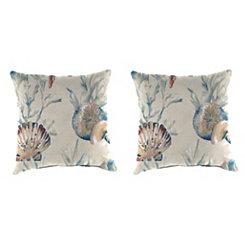 Daytrip Sailor Outdoor Pillows, Set of 2