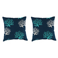 Isadella Oxford Outdoor Pillows, Set of 2
