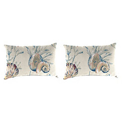 Daytrip Sailor Outdoor Accent Pillows, Set of 2