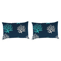 Isadella Oxford Outdoor Accent Pillows, Set of 2