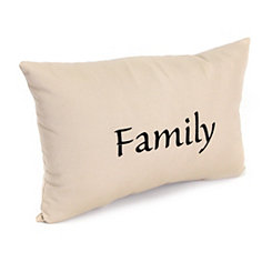 Embroidered Family Outdoor Accent Pillow