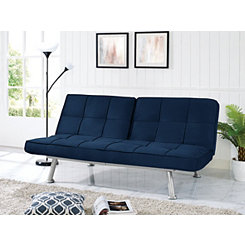 Carter Navy Convertible Sofa