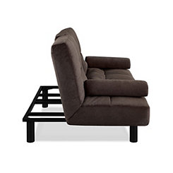 Julian Black Convertible Sofa