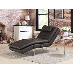 Gabrielle Brown Convertible Chaise Lounger