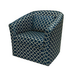 Aubree Blue Swivel Accent Chair