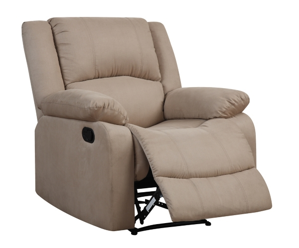 Addison Tan Microfiber Recliner