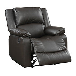 Gianna Brown Faux Leather Recliner