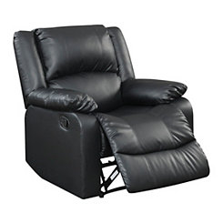 Kylie Black Faux Leather Recliner