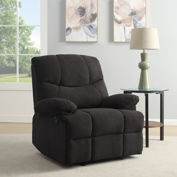 Shelby Gray Microfiber Recliner