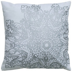 Silver Foil Medallion Pillow
