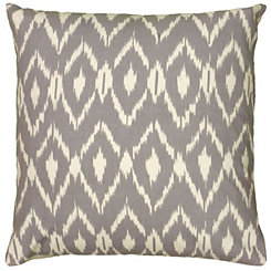 Gray Fractured Ikat Pillow