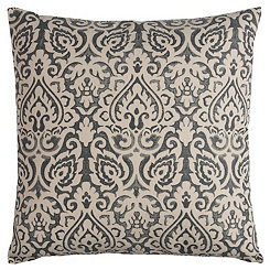 Gray Damask Pillow