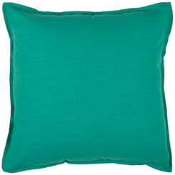 Solid Green Flanged Pillow