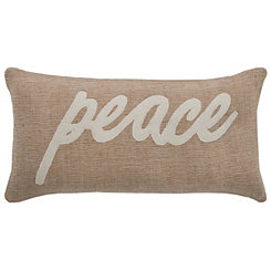 Jute Peace Accent Pillow