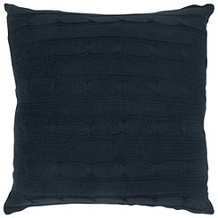 Blue Cable Knit Pillow