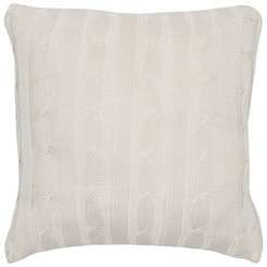 Cream Cable Knit Pillow