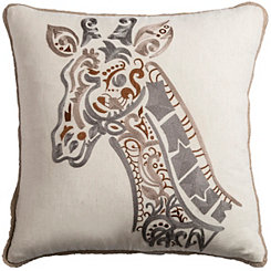 Tan Giraffe Pillow