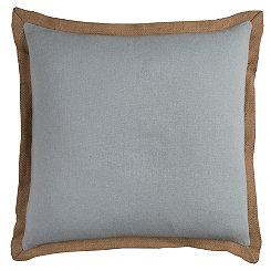 Gray Jute Edge Pillow