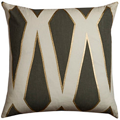 Gray Trellis Pillow