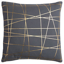 Gray Abstract Lines Pillow