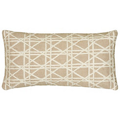 Jute Geometric Accent Pillow