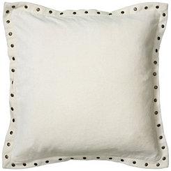 White Studded Edge Pillow