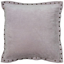 Light Purple Studded Edge Pillow