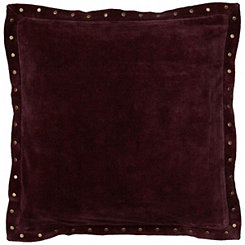 Dark Purple Studded Edge Pillow