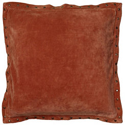 Orange Studded Edge Pillow