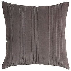Gray Textured Stripe Pillow