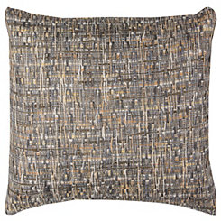 Brown Threaded Cotton Pillow