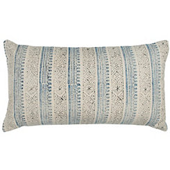 Blue Vertical Stripe Accent Pillow