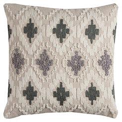 Gray Diamond Textured Pillow