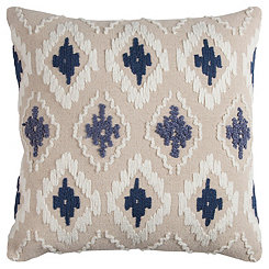Blue Diamond Textured Pillow