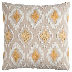 Yellow Diamond Textured Pillow