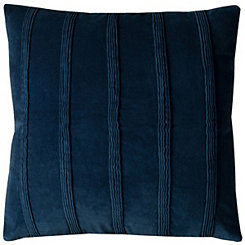 Blue Pintuck Stripe Pillow