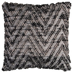 Brown Chevron Wool Pillow