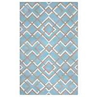 Blue Diamond Trellis Area Rug, 5x8