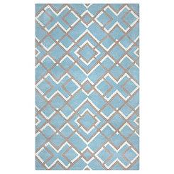 Blue Diamond Trellis Area Rug 5x8