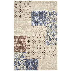 Tan Patchwork Area Rug, 5x8