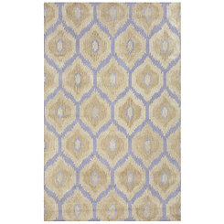 Purple Trellis Area Rug, 5x8