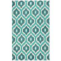 Teal Diamond Trellis Area Rug, 5x8