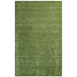 Green Geometric Area Rug, 5x8